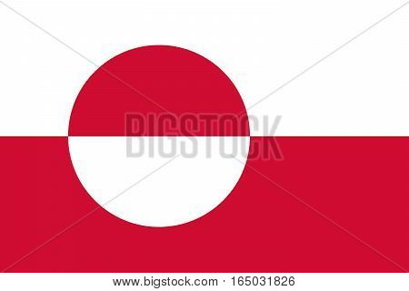 The Official vector flag of Greenland .