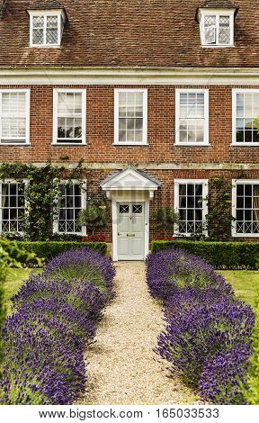 SALISBURY, WILSHIRE, UNITED KINGDOM - JuLY 19, 2015: Ornate gates House, which is located on The Close near Salisbury Cathedral.