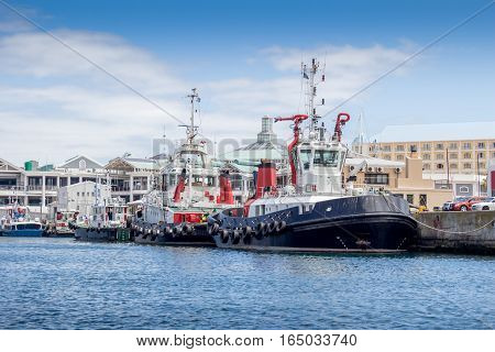 Tug boats at the Victoria and Alfred Waterfront Cape Town