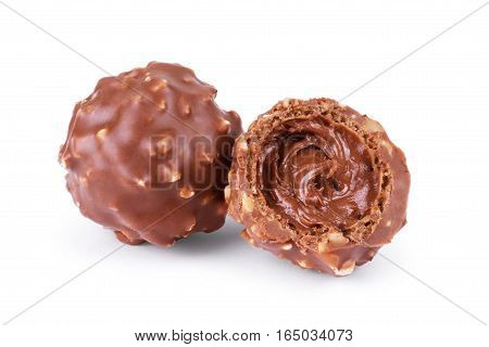 candy with chocolate cream Desserts, Bonbon, Praline, Blanco, Trufas