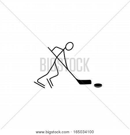 Cartoon icon sport stick figure sketch vector in cute miniature scenes.