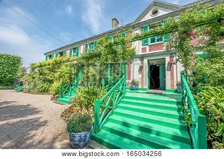 GIVERNY,FRANCE - JUNE 2016: Visiting Claude Monet estate