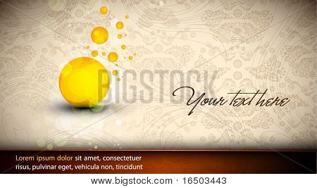 Abstract Design | EPS10 Vector Background | Floral Vintage