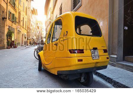 Pasquali, Riscio Elettrico, An Electric Car, Florence, Tuscany, Italy, Europe