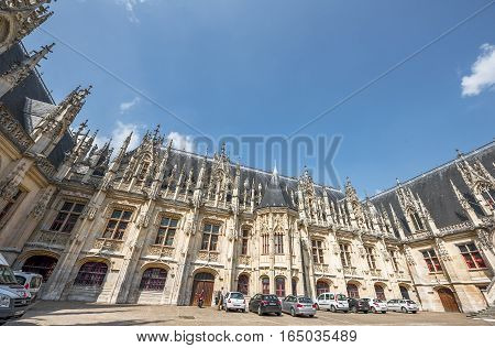 ROUEN, FRANCE - JUNE 2016: Justice Palace of Rouen