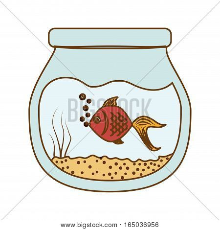 fish in bowl icon image vector illustration design