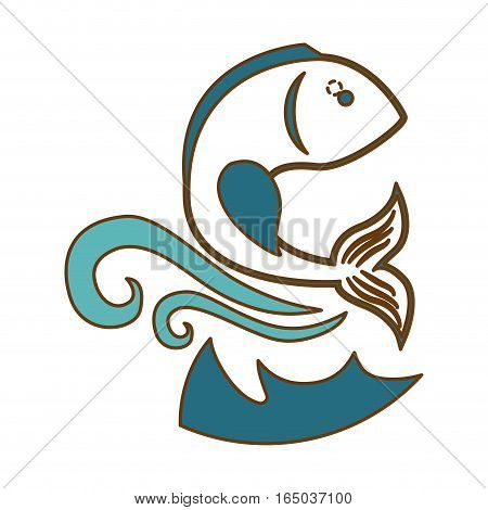 abstract fish emblem  icon image vector illustration design