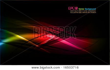 Intensive Colors | Abstract Wavy Vector Background