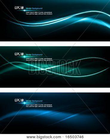 Suavizar as ondas | Modelo de Design escura para desenhos masculinos | EPS10 De fundo Vector