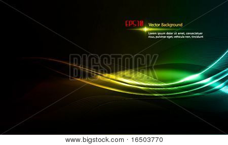 Waves Shining in Dark | Modern Motion Design Template  | EPS10 Vector Background