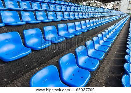 Blue Seats On The Grandstand