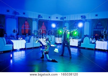 Diode Light Show Artists On Wedding Party