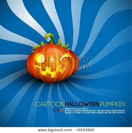 Funny Halloween Pumpkin with Big Smile   EPS10 Compatibility Needed   Objects Separated on layers named accordingly
