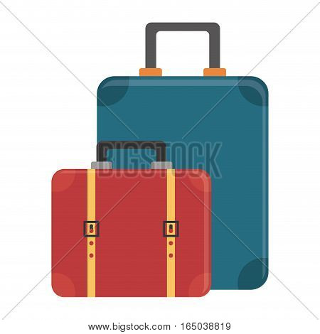 suitcases luggage icon image vector illustration design