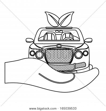 eco friendly car icon image vector illustration design