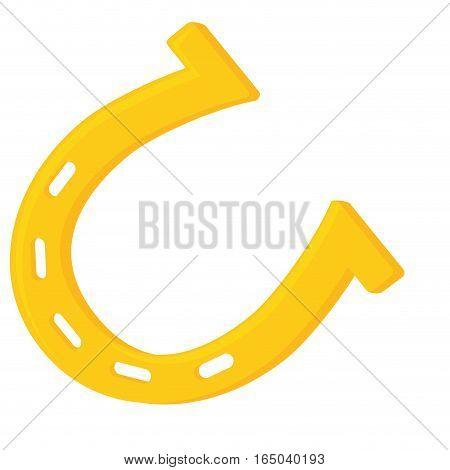 single horseshoe icon image vector illustration design