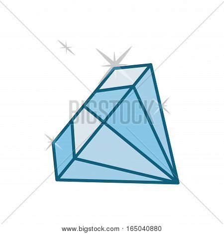 shiny diamond emblem  icon image vector illustration design