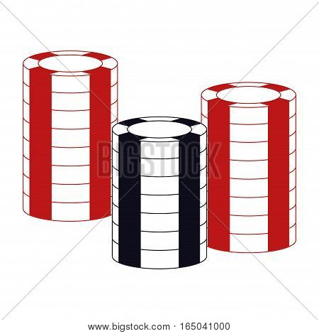 chips casino related icons image vector illustration design