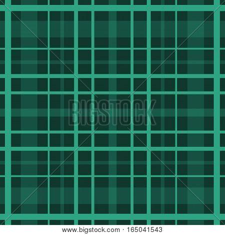 Seamless retro textile tartan green checkered texture plaid pattern print