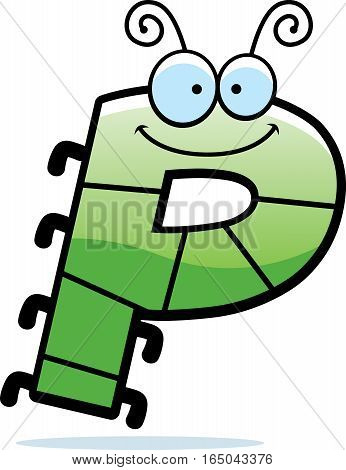 Cartoon Letter P Bug
