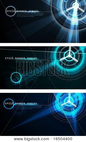 Futuristic Banner Set | Vector Science Fiction Series