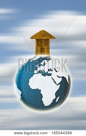 The Earth is our home - concept image - Photo composition with image from NASA