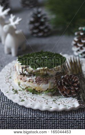 Mimosa Salad With Cheese Tuna And Avocado