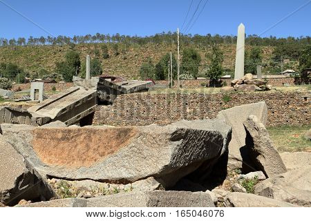 The ancient stele of Aksum in Ethiopia