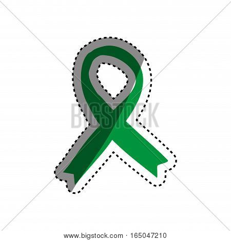 Isolated ribbon peace icon vector illustration graphic design