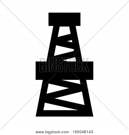 Derrick. Drilling Rig Icon. Oil Pump Sign. Industrial Object