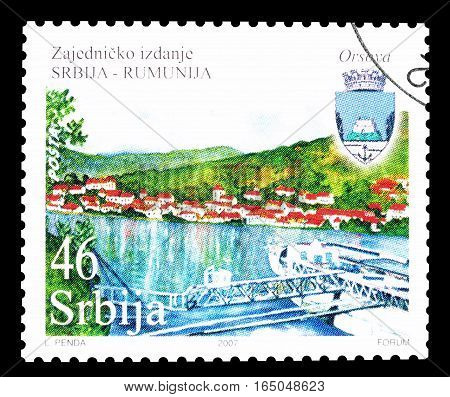 SERBIA - CIRCA 2007 : Cancelled postage stamp printed by Serbia, that shows Orsova.