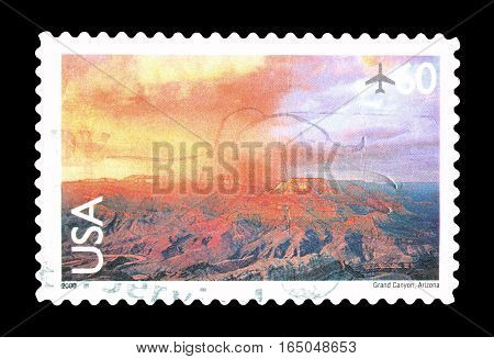USA - CIRCA 2000 : Cancelled postage stamp printed by USA, that shows Grand Canyon.