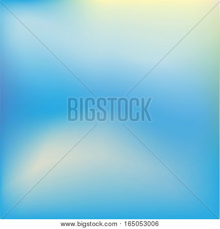 The realistic sky with clouds. Vector background