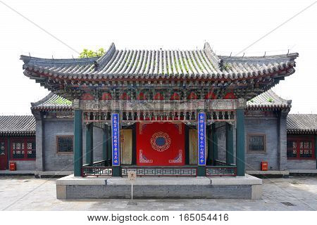 Performing Stage Shenyang Imperial Palace Mukden Palace, Shenyang, Liaoning Province, China. Shenyang Imperial Palace is UNESCO world heritage site built in 400 years ago.