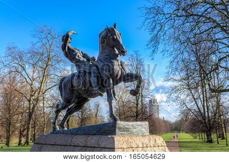 Horseman Physical Energy monument by George Frederic Watts