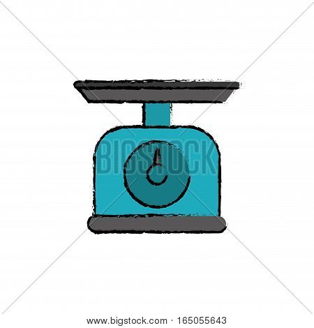 kitchen scale balance icon vector illustration graphic design