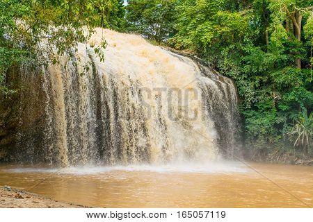Waterfall Prenn river in Dalat, park, Vietnam