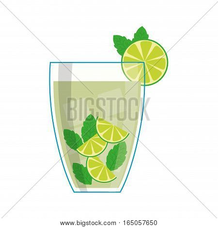 Delicious and fresh juice icon vector illustration graphic design