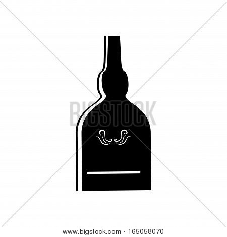 Whisky glass bottle icon vector illustration graphic design