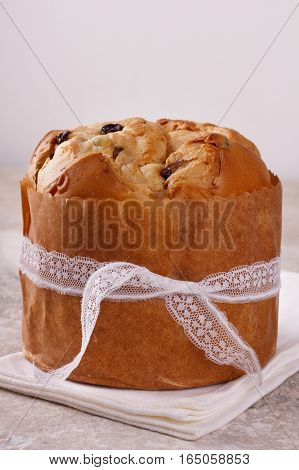 Panettone Sweet Bread Loaf Traditional For Christmas