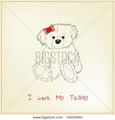 dibujo de oso de peluche