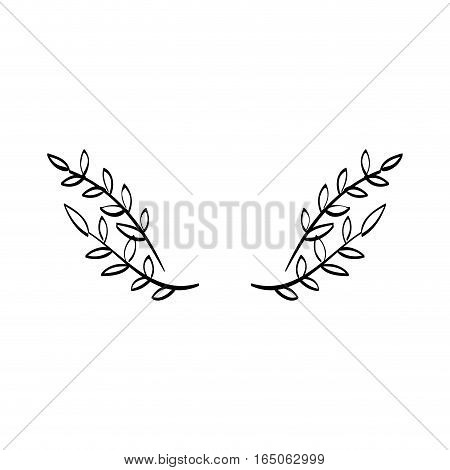Leaves wreath decoration icon vector illustration graphic design