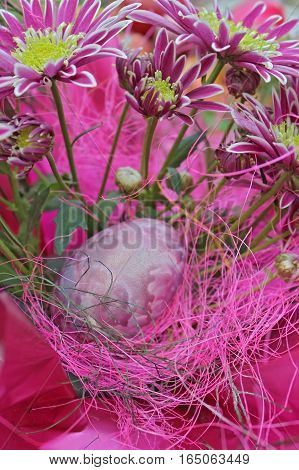 Colored     Easter eggs -  close up photo