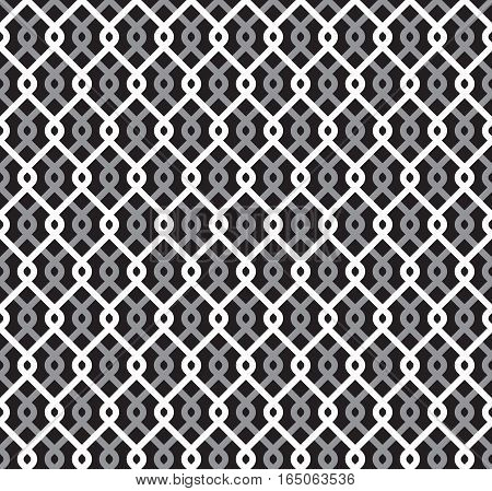 Wired metallic fence seamless texture. Steel wire mesh. Vector repeating pattern in EPS8 format.