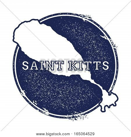 Saint Kitts Vector Map. Grunge Rubber Stamp With The Name And Map Of Island, Vector Illustration. Ca