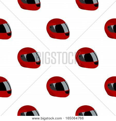 Motorcycle helmet icon cartoon. Single sport icon from the big fitness, healthy, workout cartoon. - stock vector