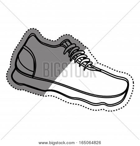 Sport sneaker isolated icon vector illustration graphic design