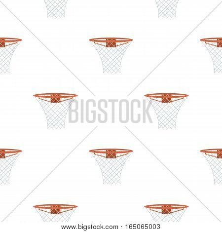 Basketball hoop icon cartoon. Single sport icon from the big fitness, healthy, workout cartoon. - stock vector