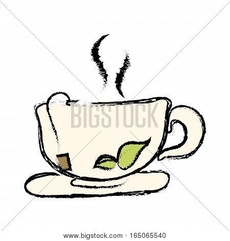 Delicious tea cup icon vector illustration graphic design
