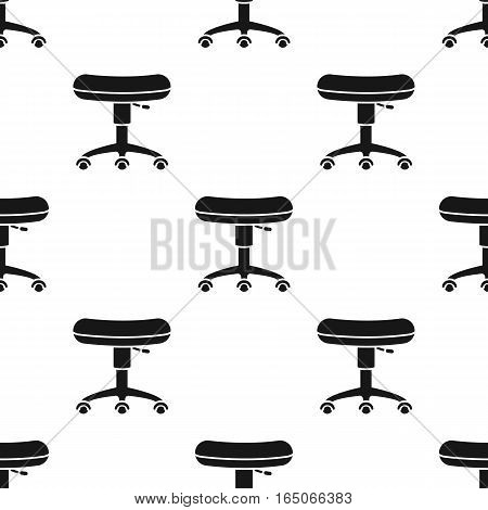 Chair rolling icon black. Single tattoo icon from the big studio black. - stock vector